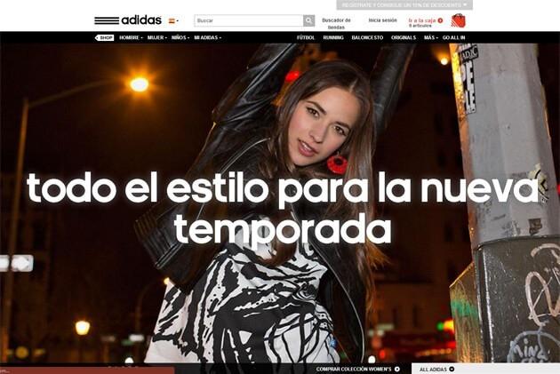 Adidas Spanish site