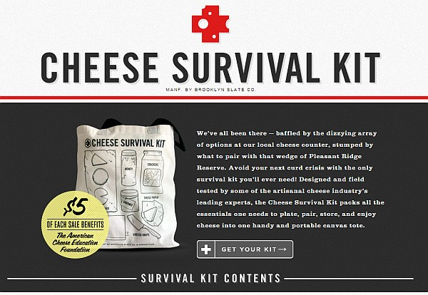 Cheese Survival Kit site