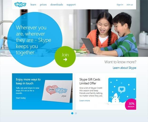 Skype Beta site