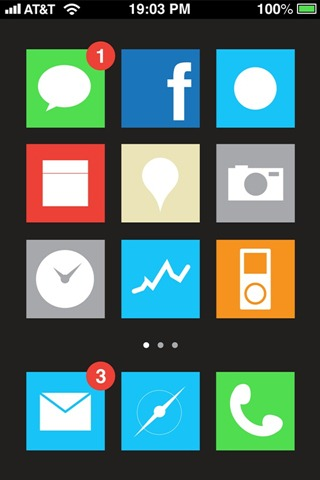 Flat UI for iPhone