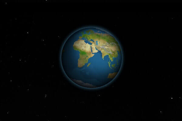 CSS Animation: Earth and Moon   Bypeople
