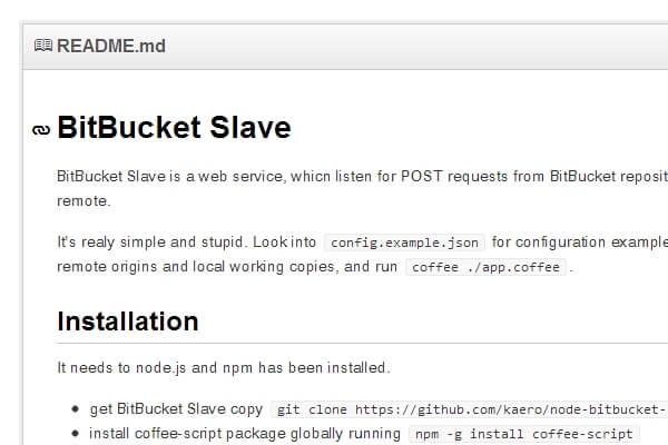 kaero/node-bitbucket-slave · GitHub | Bypeople
