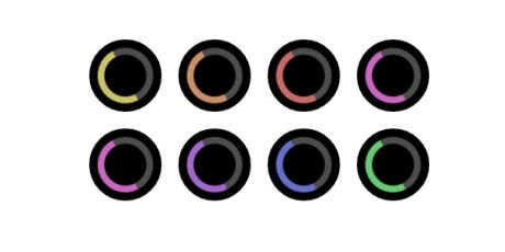 multicolor animated css loaders