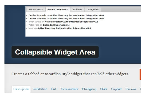 WP Collapsible Widget Area | Bypeople