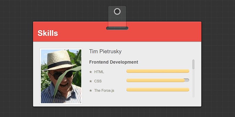 Company ID Card in CSS | Bypeople