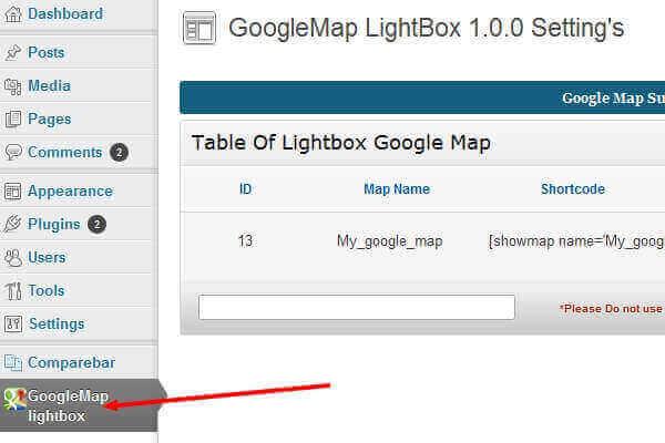 Google Map Lightbox Popup « WordPress Plugins | Bypeople
