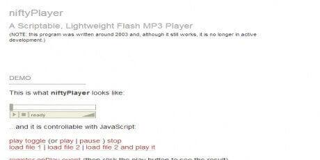 niftyplayer asmallandsimpleflashmp3player