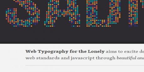 webtypographyforthelonely