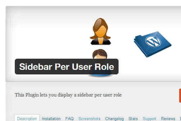 wordpress sidebar per user role wordpress plugins