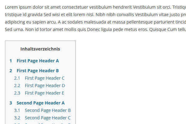 Extended Table of Contents (with nextpage support) | Bypeople