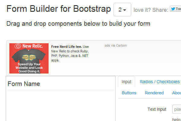 Bootstrap form builder HTML | Bypeople