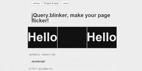 jqueryblinkermakeyourpageflicker