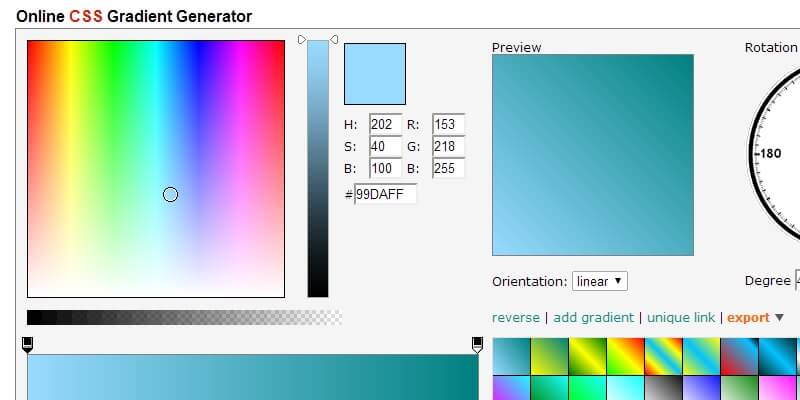 AngryTools: Online Gradient Generator | Bypeople