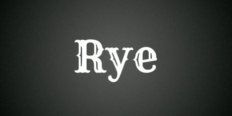 ryewoodenposter basedtypeface