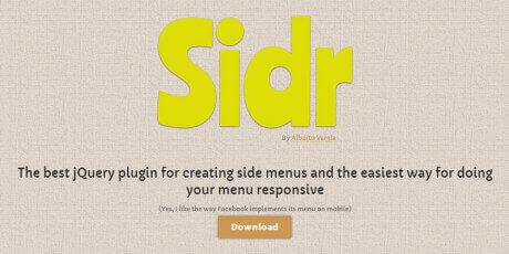 side menus jquery plugin