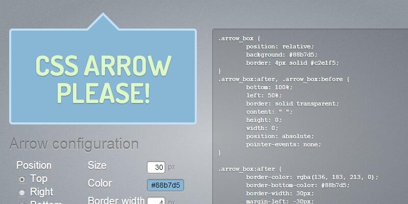 CSS Arrow Please: Tooltip Arrows Generator | Bypeople