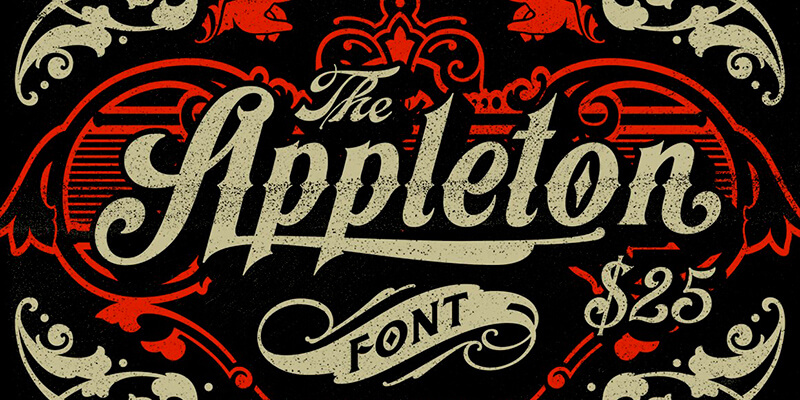 Appleton: Victorian Style Tattoo Font | Bypeople