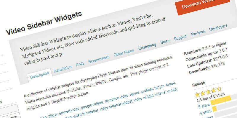 Video Sidebar Widgets for Video Display | Bypeople