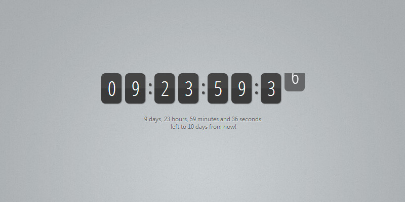 Animated jQuery Countdown Timer | Bypeople