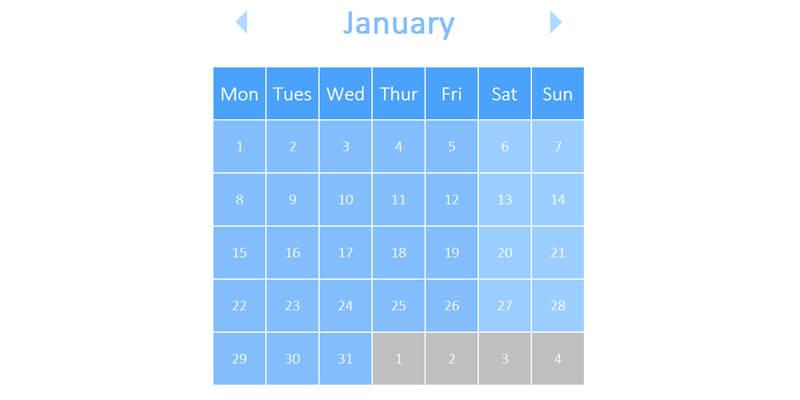 Weekly Calendar Css : Css calendar bypeople