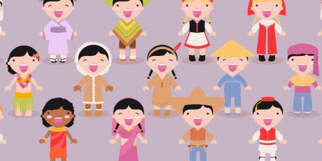 free vector kids of different races