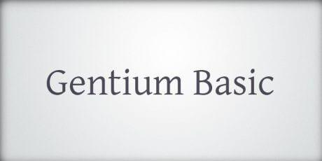 gentium basic font