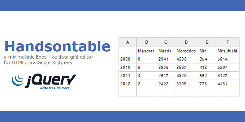 Handsontable excel like data editor bypeople 6062013 this project provides excel like table ibookread PDF