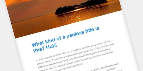 html css beautiful post idea