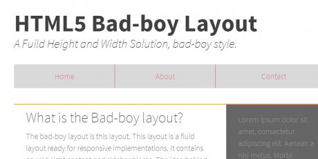 html5 layout for websites