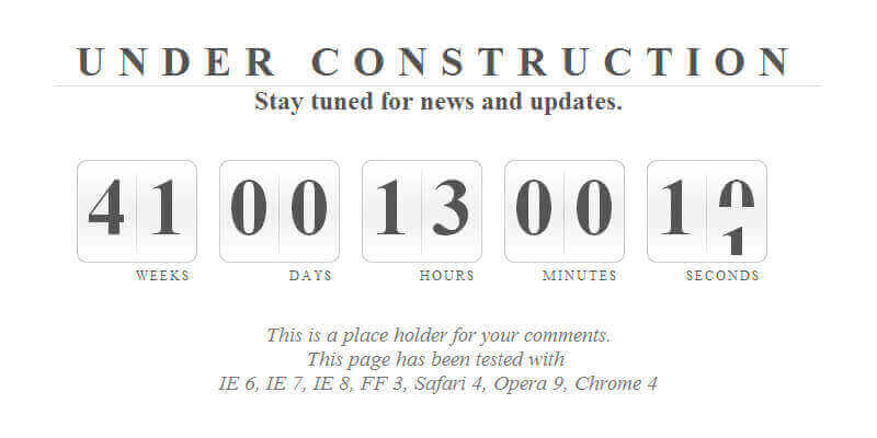 jQuery Countdown Script | Bypeople