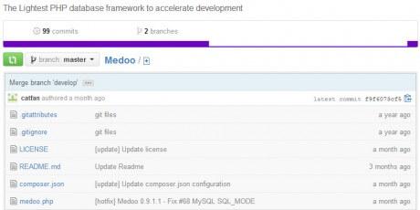medoo php database framework