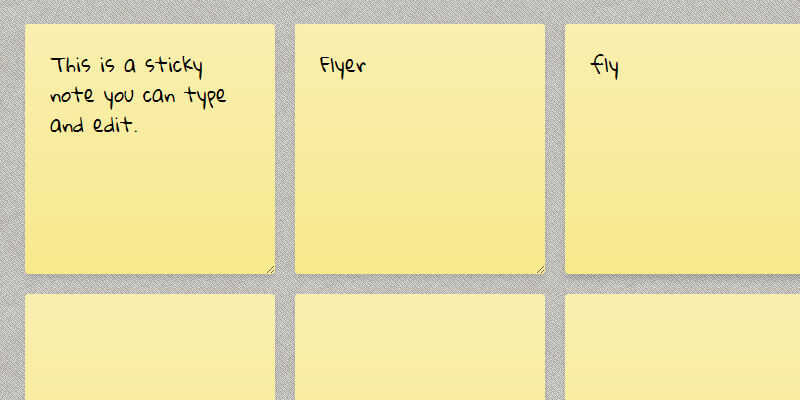 Minimal Editable Sticky Notes | Bypeople