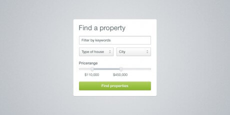 property search widget psd