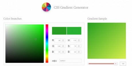 redesigned css gradient generation