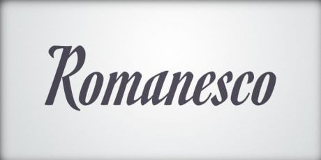 romanesco font