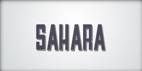 saharasans serifmodulardisplayfontwith3deffect