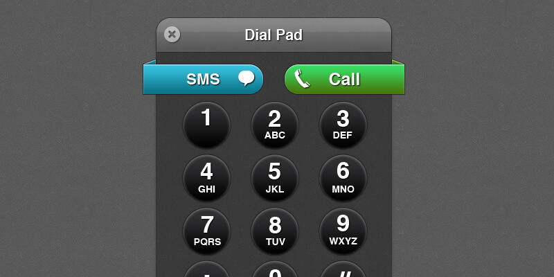 Skype-Inspired Dial Pad   Bypeople