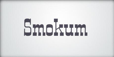 smokumwesterninspiredslab seriffont
