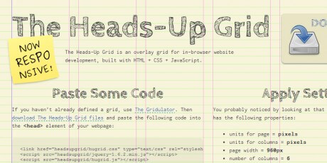 the heads up responsive grid