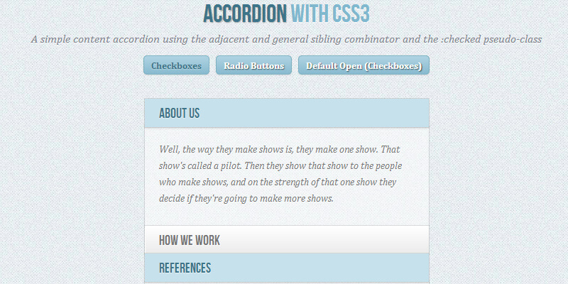 Animated Accordion with CSS | Bypeople