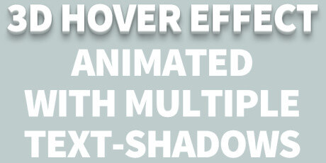 css 3d text shadow effects