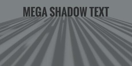 css mega shadow text effect