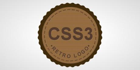 css3 shaped retro logo