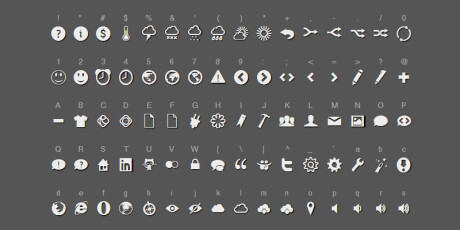 raphael icon set web font