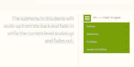 responsive multi level menu