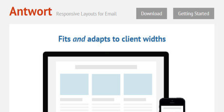 resposive css email layout template