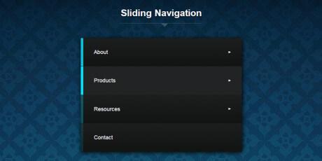 sliding navigation