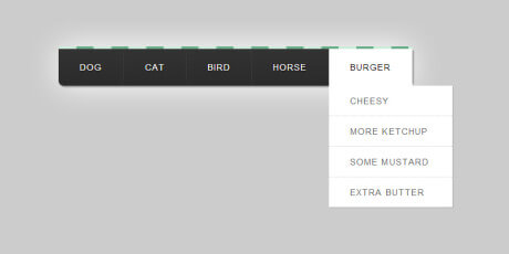 two level css dropdown navigation menu
