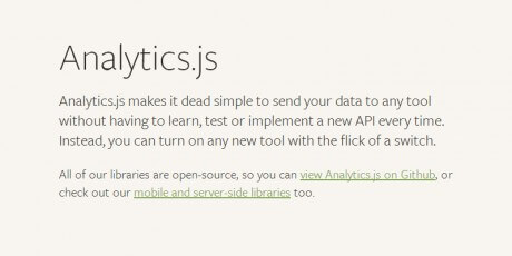 analytics js simple web wrapper