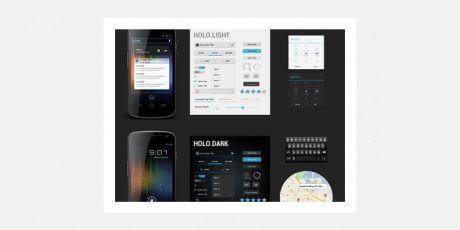android 4 ui kit freebie psd